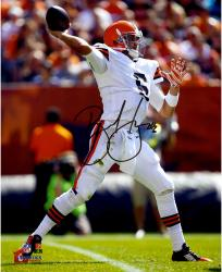 Brian Hoyer Cleveland Browns Autographed 8'' x 10'' Over The Top Throw Photograph