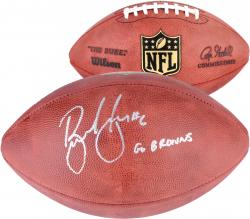 Brian Hoyer Cleveland Browns Autographed Duke Pro Football with Go Browns! Inscription
