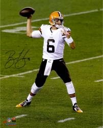 """Brian Hoyer Cleveland Browns Autographed Throwing 16"""" x 20"""" Photograph"""