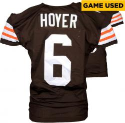 Brian Hoyer Cleveland Browns Brown Game-Used Jersey December 7, 2014 vs. Indianapolis Colts