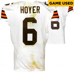 Brian Hoyer Cleveland Browns White Game-Used Jersey September 14, 2014 vs. New Orleans Saints