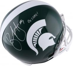 Brian Hoyer Michigan State Autographed Replica Helmet with Go State! Inscription