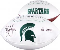 Brian Hoyer Michigan State Autographed White Panel Football with Go State! Inscription