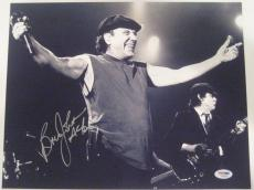 BRIAN JOHNSON (AC/DC) Signed 11x14 PHOTO w/ PSA COA