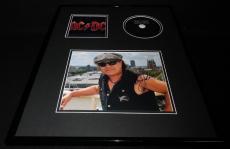 Brian Johnson Signed Framed 16x20 AC/DC Black Ice CD & Photo Display