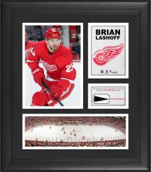 """Brian Lashoff Detroit Red Wings Framed 15"""" x 17"""" Collage with Piece of Game-Used Puck"""