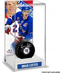 Brian Leetch New York Rangers Deluxe Tall Hockey Puck Case
