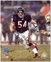 Brian Urlacher Chicago Bears Autographed 8'' x 10'' Snow Photograph - Mounted Memories