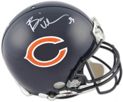 Brian Urlacher Chicago Bears Autographed Pro-Line Riddell Authentic Helmet - Mounted Memories
