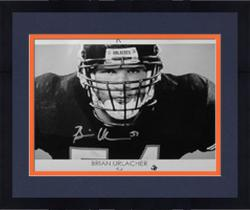 Framed Chicago Bears Brian Urlacher Autographed Poster