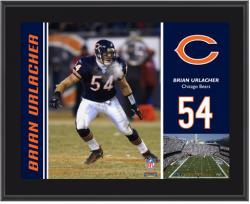Chicago Bears Brian Urlacher 10.5'' x 13'' Sublimated Plaque - Mounted Memories