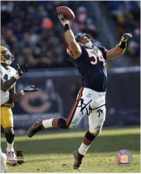Brian Urlacher Autographed 8'' x 10'' Photo - Mounted Memories