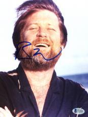 "Brian Wilson Autographed 8""x 10"" The Beach Boys Laughing Photograph - Beckett COA"