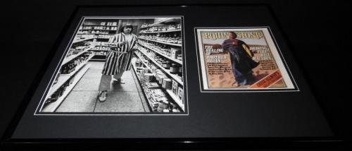 Brian Wilson Beach Boys 16x20 Framed Rolling Stone Cover Display