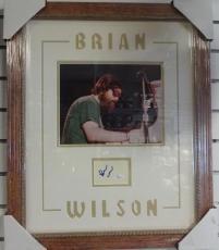 Brian  Wilson  Beach Boys  Jsa  M61385  Signed  Cut  Double Matted Framed