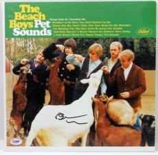 Brian Wilson Beach Boys Pet Sounds Signed Album Cover Psa/dna #x31281