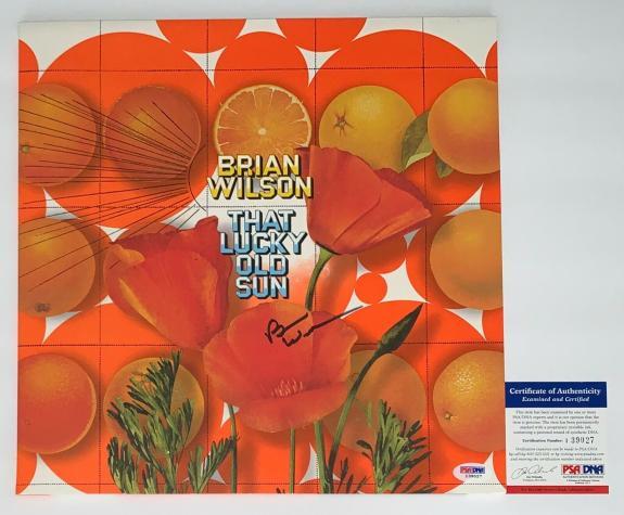 Brian Wilson Beach Boys Signed That Lucky Old Sun Record Album Psa Coa I39027