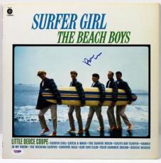 Brian Wilson Beach Boys Surfer Girl Signed Album Cover W/ Vinyl Psa/dna #x31284