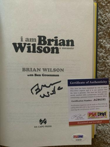 Brian Wilson I Am Signed Autographed Book Beckett Certified Beach Boys