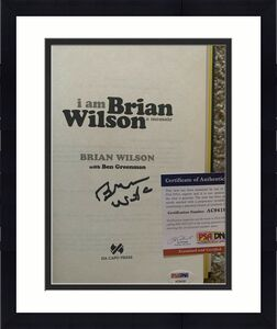 Brian Wilson I Am Signed Autographed Book Beckett Certified Beach Boys