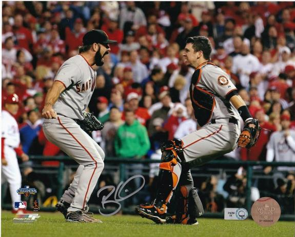 BRIAN WILSON  SAN FRANCISCO GIANTS  MLB AUTHENTICATED    ACTION SIGNED 8x10