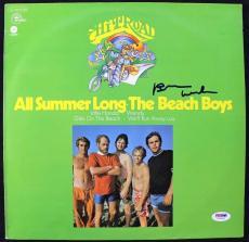 Brian Wilson Signed Album Cover W/ Vinyl Graded Perfect 10! PSA/DNA #T76268