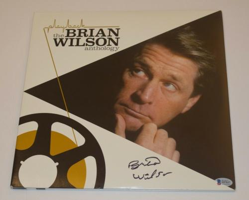 Brian Wilson Signed Autograph THE ANTHOLOGY Record Vinyl The Beach Boys BAS COA