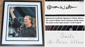 Brian Wilson Signed - Autographed The Beach Boys SMILE Fine Art Giclee Lithograph Print 28x22 inch Photo - Black Custom Frame measures 35x30 inches - Limited Edition #23/275 - Guaranteed to pass PSA or JSA