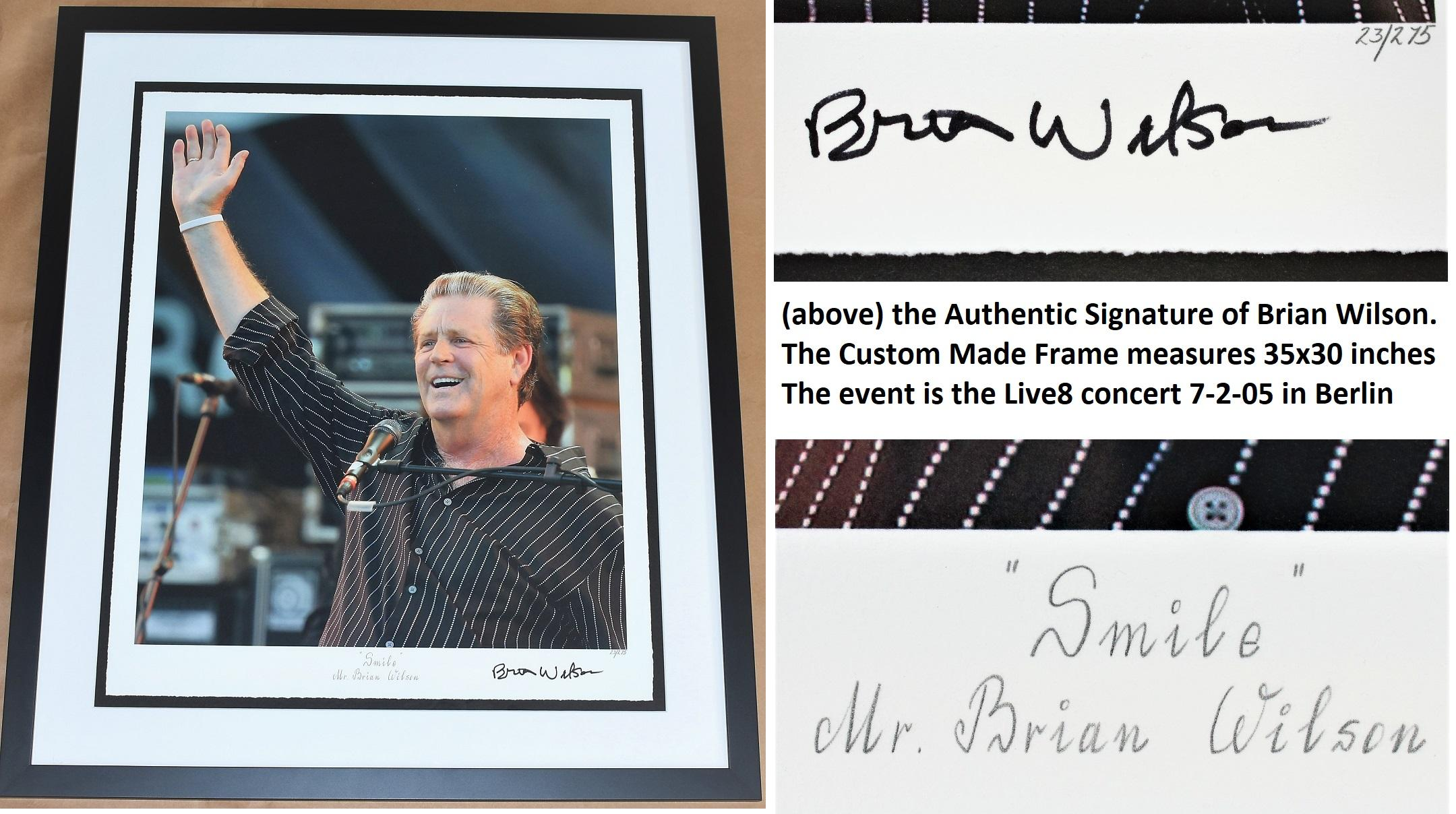 Brian Wilson Signed - Autographed The Beach Boys SMILE Fine Art ...