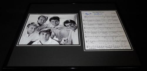 Brian Wilson Signed Framed 16x20 Beach Boys One Kind of Love Lyrics & Photo Set