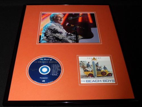 Brian Wilson Signed Framed 16x20 Best of the Beach Boys CD & Photo Display