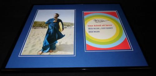 Brian Wilson Signed Framed 16x20 Photo Display JSA Beach Boys