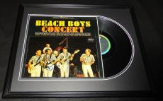 Brian Wilson Signed Framed 1964 Beach Boys Concert Record Album Display JSA