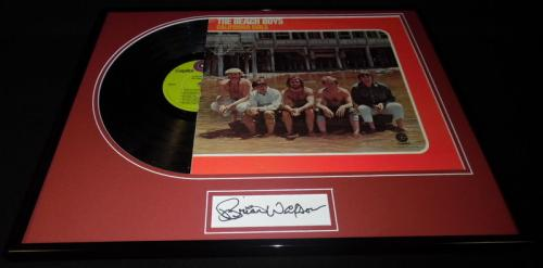 Brian Wilson Signed Framed Beach Boys California Girls Record Album Display JSA