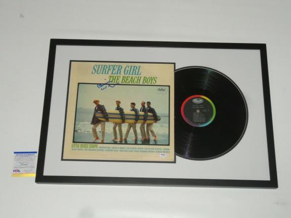 """Brian Wilson Signed Framed """"surfer Girl"""" Album The Beach Boys Psa Coa"""
