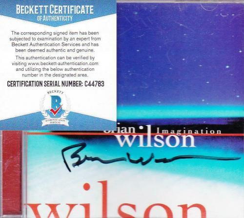 Brian Wilson signed Imagination CD compact disc Beach Boys lead singer BAS auto