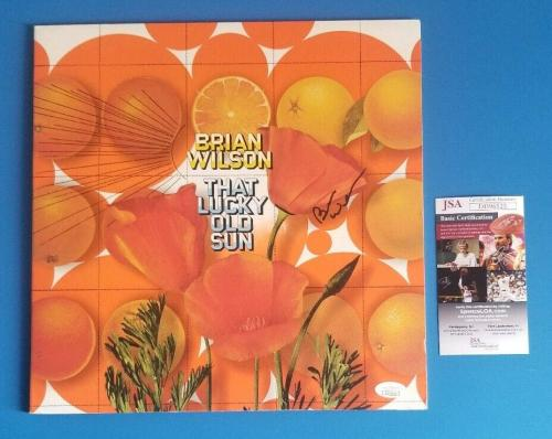 """BRIAN WILSON SIGNED """"THAT LUCKY OLD SUN"""" ALBUM CERTIFIED WITH JSA COA Beach Boys"""