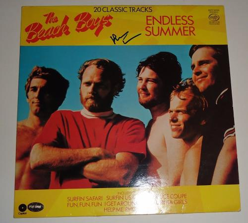 "Brian Wilson signed ""The Beach Boys"" Endless Summer RECORD Album PSA/DNA COA"