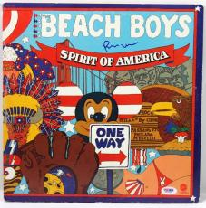 Brian Wilson The Beach Boys Signed Album Cover W/ Vinyl PSA/DNA #X31283