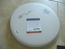 """Brian Wilson The Beach Boys Signed PSA Certified 10"""" Remo Drumhead RARE FULL SIG"""