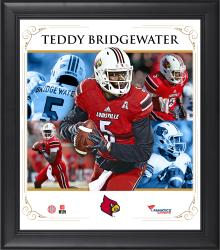 TEDDY BRIDGEWATER FRAMED (LOUISVILLE) CORE COMPOSITE - Mounted Memories