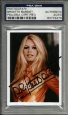 Brigitte Bardot SEXY VINTAGE ACTRESS Signed 2x3 Photo Card PSA/DNA Slabbed #5