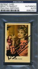 Brigitte Bardot Signed Psa/dna Trade Card Autograph
