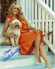 Christie Brinkley Autographed 8'' x 10'' With Dog Photograph