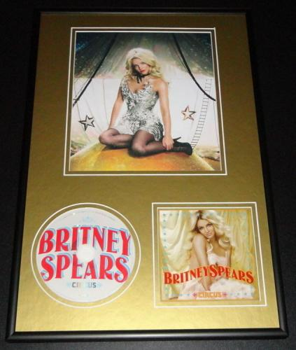 Britney Spears Circus Framed 12x18 CD & Photo Display