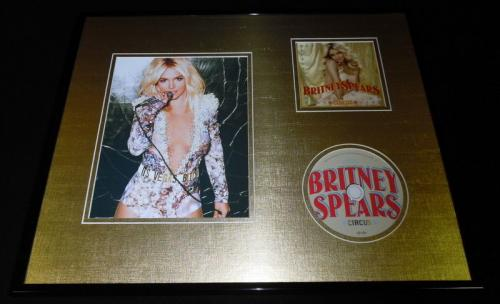 Britney Spears Framed 16x20 Circus CD & Photo Display