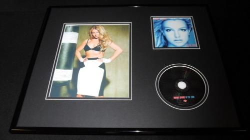 Britney Spears Framed 16x20 In the Zone CD & Boxing Photo Display