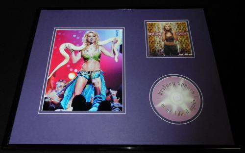 Britney Spears Framed 16x20 Oops I Did it Again CD & Snake Photo Display