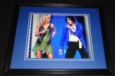 Britney Spears & Michael Jackson Framed 8x10 Photo Poster
