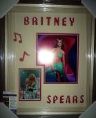 Britney Spears Music Star Jsa Coa Signed Autograph Photo Double Matted Framed B
